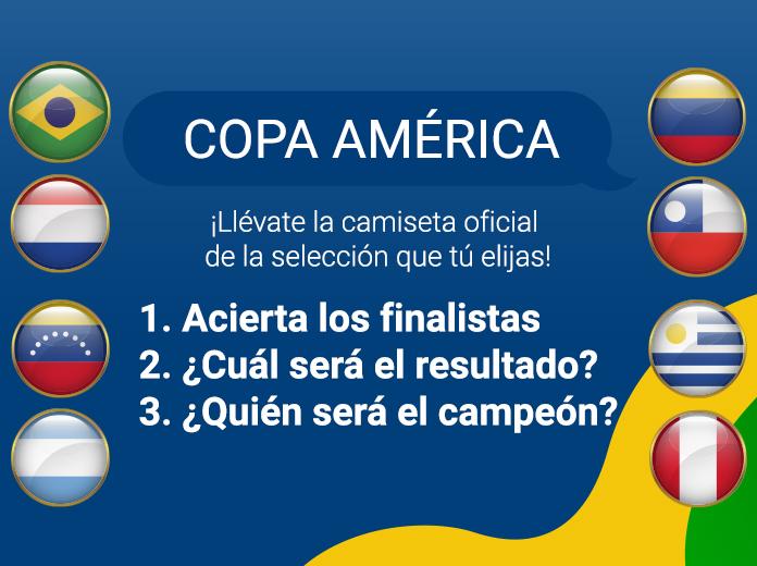 camiseta de la Copa America gratis