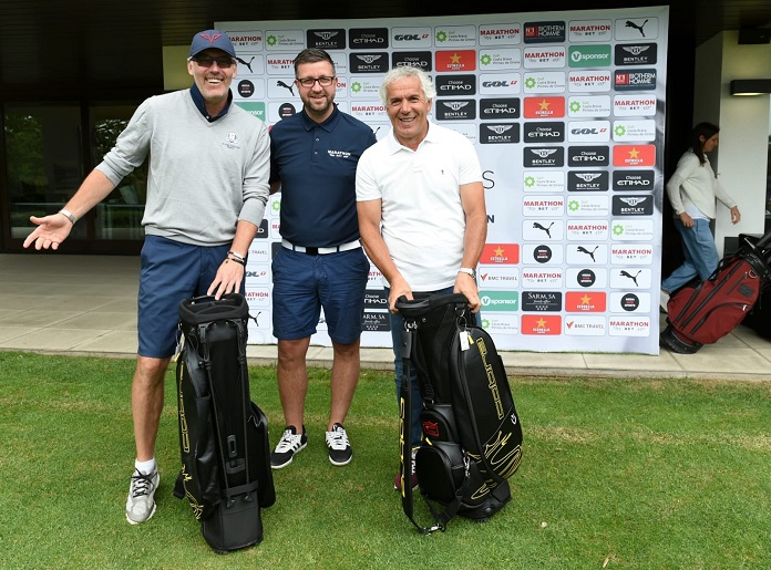 Donadoni y Blanc en el legends trophy de golf