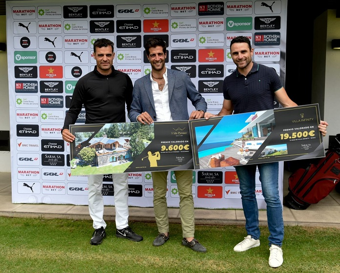 Kenneth Pérez y Antonio Núñez. Terceros clasificados del Legends Trophy de golf